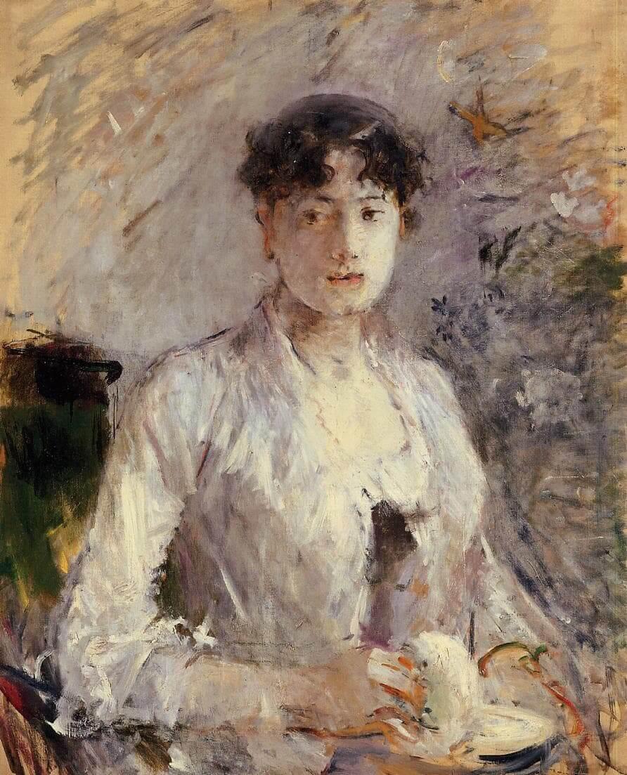 """""""Jonge vrouw in Mauve"""" door Berthe Morisot"""